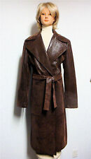 "FEMMES JE VOUS AIME PARIS - ""MELISSA"" - Long Trench Belted Dress Coat - Size 2"