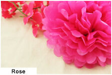 4 Inch Rose Tissue Paper Pom Poms Flower Ball Wedding Birthday Party Decoration