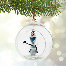 Olaf Globe Frozen Sketchbook Christmas Ornament  Disney Store 2015 NEW