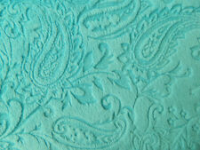 COUNTRY QUILTING FABRIC Minky Soft Cuddle Material 50 x 150cm AQUA New
