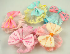 "Wholesale 3p girl baby toddler 2.5""boutique Hair Bow mixed ribbon with clips @93"
