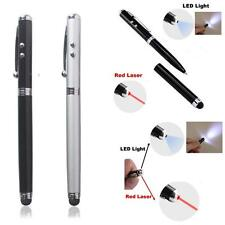 2X 4-in-1 Ballpoint Pen Stylus + Pointer + LED For iPhone Tablet Smartphone PC