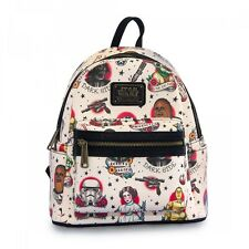 Star Wars Flash Tattoo Cream Faux Leather Mini Backpack by Loungefly and Disney