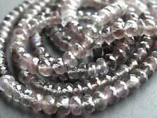 HAND FACETED GREY MOONSTONE RONDELLES, approx 5mm, 13.5""