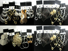 wholesale 30 pairs top design alloy earring  women's  lots fashion mix jewelry