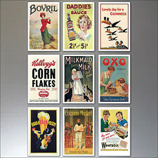 9 Vintage Retro Advert Poster Fridge Magnets Art Deco No.2