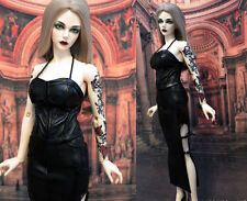 1/3 BJD outfit EID SID Iplehouse Female doll pu leather dress set ship US