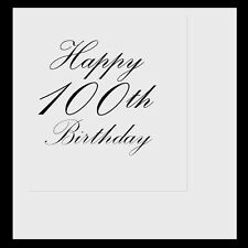 Happy 100th Birthday (Age 100) Party Supplies CLASSY BLACK LUNCH DINNER NAPKINS