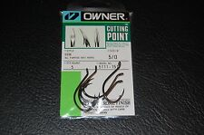 OWNER SSW with CUTTING POINT All Purpose Bait Hooks 5111-151 Size 5/0 - 5 pack