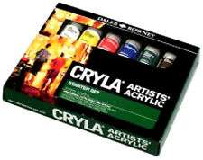 DALER ROWNEY CRYLA ARTISTS COLOURS ACRYLIC STARTER SET 6 X 22ML PAINT TUBES