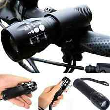 Cycling Bike Bicycle 240 lumen Q5 LED Front HEAD LIGHT Torch LARM + Mount HS