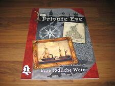 Private Eye Eine tödliche Wette Abenteuer 1 Softcover B&B 2015 Detektiv RPG NEU