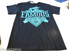 Men's Famous stars and straps black T shirt TEE surf skate M medium NEW NWT