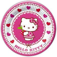Hello Kitty 8 Stück Pappteller Kindergeburtstag Kinderparty Geburtstag Kinder