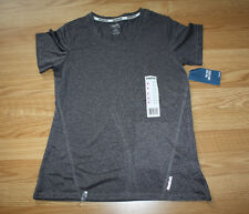 NWT Womens Reebok Heathered Gray Exercise Fitness Running Shirt Size Small S