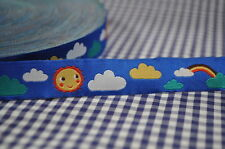 Woven ribbon Sun Clouds Rainbow 2 Meters braid border LILLESTOFF sunny sky