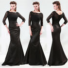 Vintage Mermaid Lace Formal Evening Long Gown Prom Party Ball Bridesmaid Dresses