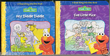 HEY DIDDLE DIDDLE & FIVE LITTLE MICE Elmo's Read-Along Book Set for Tiny Hands