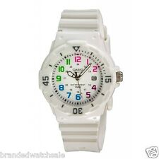 CASIO WOMEN'S WHITE RESIN QUARTZ WATCH WITH WHITE DIAL 100 METER LRW-200H-7BVDF