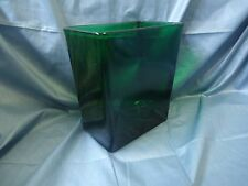 Big Green Glass Rectangle Vase; Napco 1166  #703