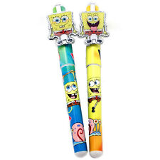 SpongeBob Ball Point Pen Set Refillable Black Ink 2pcStationery Yellow Green