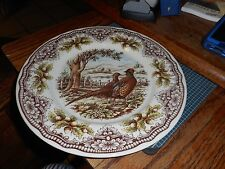 "New Victorian English Pottery Pheasant 11"" Dinner Plate (s)"