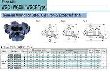 """SUMITOMO WGCF INDEXABLE MILLING CUTTER 125MM (4.9212"""") WCGF4125RS"""