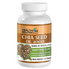 Chia Seed Oil 2000mg Heart Health Omega 3-6-9 Nutrition 1 Bottle