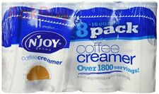 NJOY Original Powdered Coffee Creamer 8/16oz Canisters N'Joy Non-Dairy