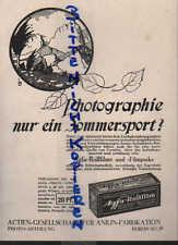 BERLIN, Werbung / Anzeige 1924, AG für Anilin-Fabrikation Agfa-Rollfilm