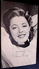 1947~ELEANOR PARKER GLAMOUR SHOT~WARNER BROS POSTCARD FAN PHOTO~SIGNED~EXCELLENT