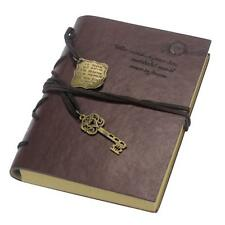 New Vintage Magic Key String classic Leather notebook diary journal Retro -Large