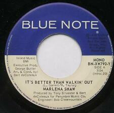 MARLENA SHAW It's better than walkin' out  NM- JAZZ BLUE NOTE USA 1976 Vinyl 45