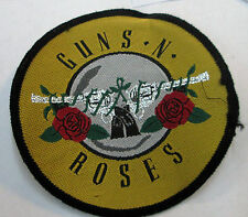 GUNS N ROSES COLLECTABLE RARE VINTAGE PATCH WOVEN 90'S  METAL SLASH AXL