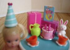 Barbie Happy family Baby TODDLER 1st Birthday Party Presents Cake Hat Dishes set