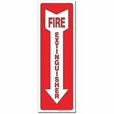 (3 Flange Nuts Pack) Fire Extinguisher Sign - High Quality - Self Adhesive 4 X 4