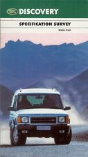 Land Rover Discovery 2000-01 UK Specification Brochure ES Adventurer XS GS S E