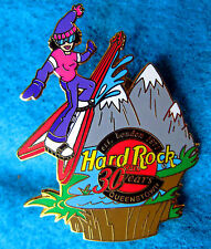 QUEENSTOWN 30th ANNIVERSARY EXTREME SPORTS FV GUITAR SKI GIRL Hard Rock Cafe PIN