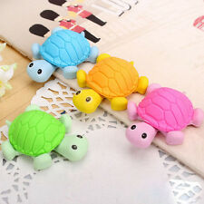 2X Kids Creative Animal Turtle Tortoise Cartoon Rubber Pencil Eraser Stationery