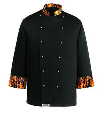 GIACCA CUOCO DEVIL FIAMME EGOCHEF CHEF JACKET Kochjacke  куртка DALLA S ALL 4XL