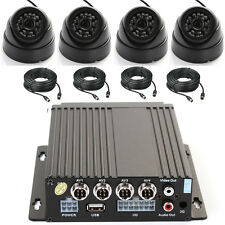 4CH AHD Auto Car Vehicle Mobile DVR LED Night Vision + 4 Camera & Cable Kit Set