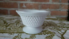 Vintage Milk Glass Hobnail Pattern Bowl / Candy Dish