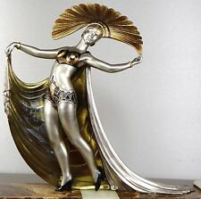 1920/1930 L GIBERT RARE GRD STATUE SCULPTURE ART DECO FEMME DANSEUSE BRONZE GIRL