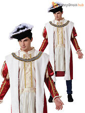 Adult Mens Royal King Medieval Tudor Historical Fancy Dress Costume Henry VIII