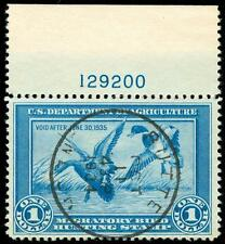 momen: US Stamps #RW1 Used Duck PNS WEISS Graded 85/90