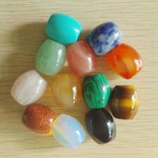 Fashion Assorted Mixed Natural Stone Barrel Beads 12pcs/lot Wholesale 20mmx15mm