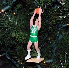 larry BIRD boston CELTICS basketball xmas TREE ornament HOLIDAY vtg JERSEY white