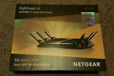 Netgear AC3200 Nighthawk X6 Tri-Band WiFi Router (R8000) - New -
