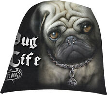 Spiral Direct PUG LIFE Light Cotton Beanies/Funny/Cuddly/Cute/Dog/Unisex/Hat