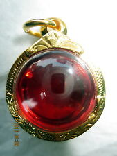 Very Rare! Blessed Red Naga Eye Stone Pendant Protective Thai Buddha Amulets
